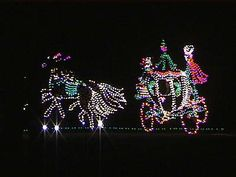Olgeby's Winter Festival of Lights near Wheeling...Cinderella's coach appears to be moving ...many other scenes as well..lots of fun for the family.