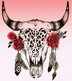 bull skull tattoo - Google Search