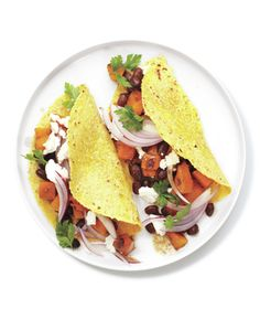 Butternut Squash and Bean Tacos from realsimple.com #myplate #protein #vegetables