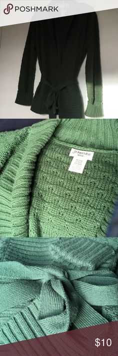 Shawl Collar Belted Wrap Cardigan Soft 100% acrylic. No itching, just warmth. St John's Bay Sweaters Cardigans