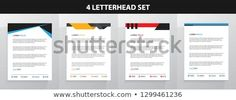 Find Letterhead Template Set stock images in HD and millions of other royalty-free stock photos, illustrations and vectors in the Shutterstock collection. Letterhead Template, New Pictures, Royalty Free Photos, Announcement, Create Yourself, Templates, Stencils, Vorlage, Models