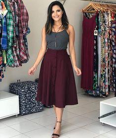 50 Ideas For Skirt Outfits Modest Simple Skirt Outfits Modest, Modest Dresses, Cute Dresses, Dress Skirt, Modest Clothing, Pleated Skirt, Modest Fashion, Hijab Fashion, Fashion Dresses