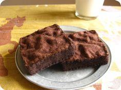 Brownies de comida de fieltro