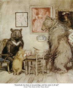 "Welcome to Dover Publications. Arthur Rackham's illus. of ""The Three Bears"""