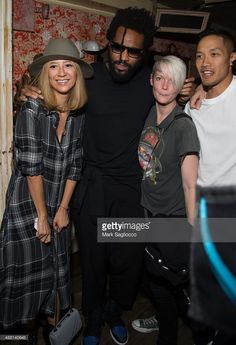 Canis Chow, Designer Maxwell Osborne, Maxim Editor-in-Chief Kate Lanphear and Dao-Yi Chow attend the Public School women's collection after party at The Box on September 13, 2015 in New York City.