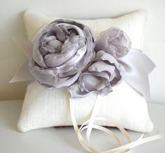 Ring pillowweddingwhiteburlapring bearer by TheBurlapCottage