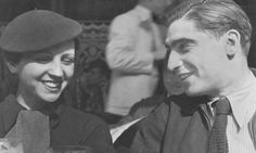 Theo was loosely inspired by Robert Capa, and Eva even more loosely by Gerda Taro...