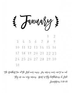 2016 Printable Planner & Calendar - Hymns and Verses Printable Planner, Free Printables, Teaching Tools, Verses, Calendar, Bullet Journal, Chart, January 2016, Journal Ideas