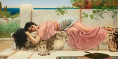 Le Prince Lointain: John William Godward (1861-1922), When the Heart i...