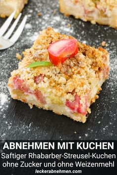 Low Carb Desserts, Low Carb Recipes, Cooking Recipes, Healthy Recipes, Healthy Cake, Healthy Snacks, Law Carb, Rhubarb Cake, Eat Smart