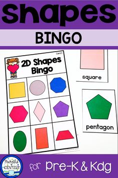 Practice and shape recognition with this fun bingo game. Perfect for PreK and Kindergarten all year long! Preschool Math, Kindergarten Classroom, Kindergarten Activities, Teaching Math, Teaching Ideas, Preschool Ideas, Craft Ideas, 3d Shapes Activities, Group Activities