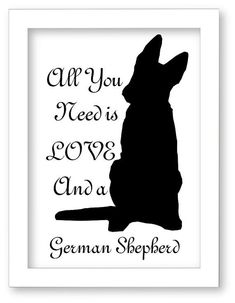 Printable German Shepherd Dog Silhouette All You by DIGIArtPrints $5.00                                                                                                                                                                                 More