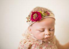 newborn tieback headbandbaby girl headband by pixieblossoms