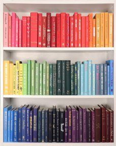 Rainbow Ombre (Books by Color). Make a statement with our Rainbow Ombre line! These modern hardback books are in very good to new condition and come in all the colors of the rainbow. Image is for reference only, actual books/colo Bookshelf Organization, Bookshelf Styling, Bookshelves, Organize Bookshelf, Bookshelf Design, Organization Ideas, Organizing, Decor Around Tv, Rainbow Decorations