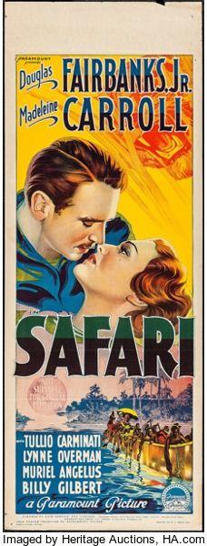 Movie Posters:Adventure, Safari (Paramount, 1940). Australian Pre-War Daybi...