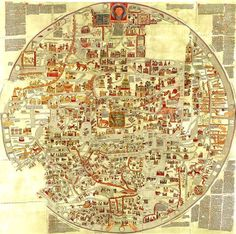13th Century Map of the World ibeebz.com
