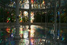 This is Palacio de Cristal (the crystal palace) in Madrid, Spain. It is now used as a temporary exhibition space.