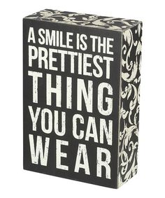 Loving this 'A Smile' Wall Sign on #zulily! #zulilyfinds