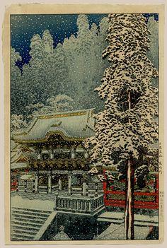 "Hiroaki, Takahashi (1871-1945), ""Yomeimon Gate In Snow"" / Castle Fine Arts"