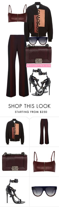 """""""Untitled #2028"""" by stylebyteajaye ❤ liked on Polyvore featuring Clover Canyon, Chanel, T By Alexander Wang, Tom Ford and CÉLINE"""