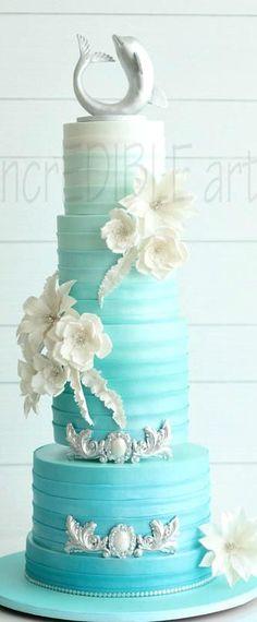 """""""Tranquility"""" Wedding Cake"""