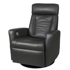 Contemporary, modern Furniture : Chairs, Benson Motion Recliner - Graphite from Urban Barn to complement your style. Swivel Recliner Chairs, Modern Recliner, Recliners, Leather Furniture, New Furniture, Furniture Chairs, Leather Recliner, Leather Sofa, Contemporary Furniture Stores