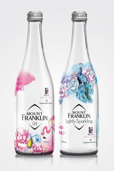 Mount Franklin Spring Water McGrath Foundation on Packaging of the World - Creative Package Design Gallery Water Packaging, Beverage Packaging, Bottle Packaging, Bottle Labels, Food Packaging Design, Packaging Design Inspiration, Agua Mineral, Mineral Water, Label Design