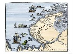 size: Giclee Print: Early Map Showing Nova Zembla Off the Arctic Coast of Russia, Probably 1600 : Travel Framed Artwork, Wall Art Prints, Poster Prints, Frames For Canvas Paintings, Affordable Wall Art, Cool Posters, Cartography, Arctic, Find Art