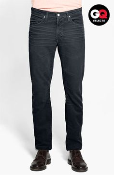 AG Jeans Straight Leg Corduroy Pants #Nordstrom #GQSelects