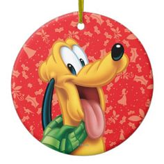 Pluto, Disney Christmas Ornaments | http://shoppingwithadam.com/disney-christmas-ornaments/