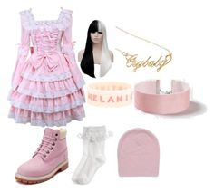 """Melanie Martinez Inspired Look"" by music4lif on Polyvore featuring Topshop, Timberland and Monsoon"