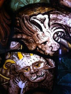 Details - medieval stained glass.