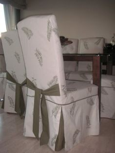1000 images about forros para muebles on pinterest - Forro para sillas de comedor ...