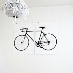 "Screenprinted poster ""The World Champion Bicycle""."