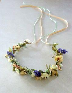 Floral crown Headpiece Wedding Halo Bridal Mint by AmoreBride, $49.00