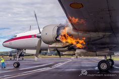 """There is simply nothing quite like the experience of standing right next to the HARS Lockheed Super Constellation """"CONNIE"""" as she starts each engine one by one, no words can really describe just how awesome the sounds, smells and visuals are!"""