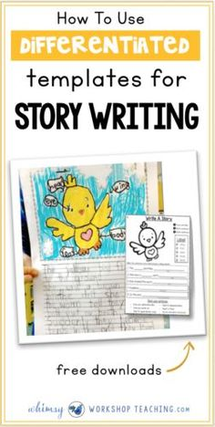 Using story writing templates will support and encourage confidence in emergent writers, and it's an easy way to differentiate as needed while inspiring ideas for writing stories (free download pages to try)