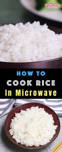 Easy Microwave Rice - TipBuzz Learn How to Cook Rice in the Microwave – easier, faster and perfectly cooked each time. Rice cooked in the microwave is fluffy and tender, tasting the same, if not better than a rice cooker or stovetop. Microwave Rice Recipes, Cooked Rice Recipes, Rice In The Microwave, Microwave Rice Cooker, Microwave Dinners, Cooking Tips, Cooking Recipes, Healthy Recipes, Cooking Bacon