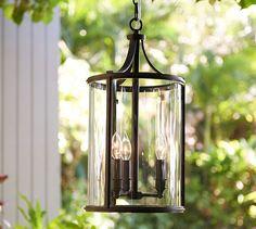 Belden Indoor/Outdoor Pendant | Pottery Barn $239 - antique nickel or bronze