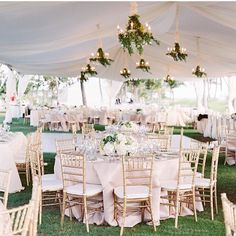 Love the gold chairs. I think it goes well will the neutral colour scheme and touches of green from the foliage.