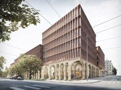 SHL Architects revives Riga's former industrial beer brewery site with bold brick facade buildings