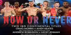 Ringside Boxing: Now or Never -Saturday night, at the Genting Arena, Birmingham, Errol Johnson's BCB (Black Country Boxing) Promotions presented a great night of boxing. The show billed as 'Now or Never' – a reference to Frankie Gavin who was to have fought for an IBO title which fell through earlier this month - featured ten ...- http://www.saddoboxing.com/49217-ringside-boxing-now-or-never.html