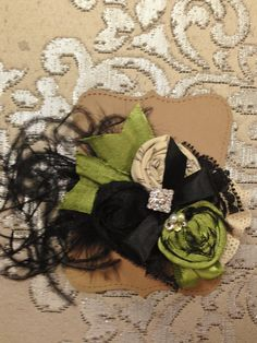 Hey, I found this really awesome Etsy listing at https://www.etsy.com/listing/171902093/black-lime-elegant-couture-rosette