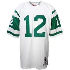 f16693ab275b0 Mens New York Jets Joe Namath Mitchell   Ness White Authentic Throwback  Jersey
