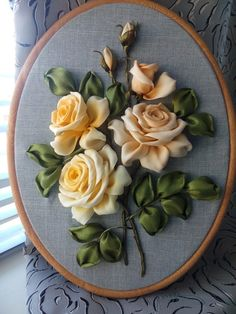 Wonderful Ribbon Embroidery Flowers by Hand Ideas. Enchanting Ribbon Embroidery Flowers by Hand Ideas. Learn Embroidery, Hand Embroidery Stitches, Embroidery For Beginners, Embroidery Hoop Art, Embroidery Designs, Embroidery Supplies, Ribbon Art, Ribbon Crafts, Diy Ribbon