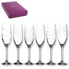 Flûtes à champagne Saga 2 coffrets de 6 - Bruno Evrard Création