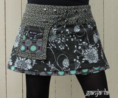 Love the pocket on the front Sewing Clothes, Diy Clothes, 50 Style Dresses, Diy Fashion, Fashion Outfits, Creation Couture, Couture Sewing, Fashion Project, Cute Skirts