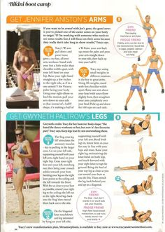 Tracy Anderson tips for getting Jennifer Aniston's arms and Gwyneth Paltrow's legs. From Cosmo UK, June Tracy Anderson Workout, Tracy Anderson Method, Anderson Arms, Fitness Workouts, Fitness Tips, Fitness Motivation, Health Fitness, Thigh Workouts, Workout Exercises