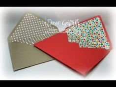 Making Envelope Liners for any size envelope with Dawn - YouTube