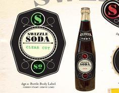 Branding/label design for small batch soda maker: Swizzle Soda.